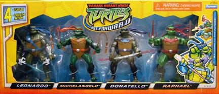 Playmates 2007 Fast Forward Four Pack Teenage Mutant Ninja Turtles