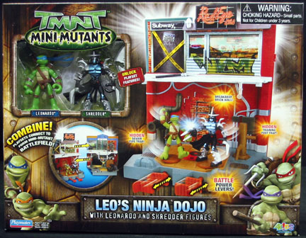 Playmates 2007 Leonardo S Ninja Dojo Teenage Mutant Ninja Turtles