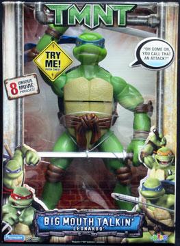 Playmates 2007 Big Mouth Talkin Leonardo Teenage Mutant Ninja Turtles