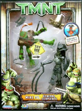 Playmates 2007 Mike Vs General Serpiente Teenage Mutant Ninja
