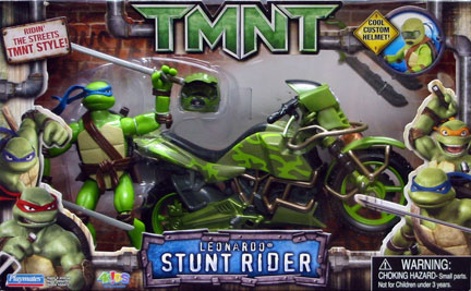 Playmates 2007 Leonardo Stunt Rider Teenage Mutant Ninja Turtles